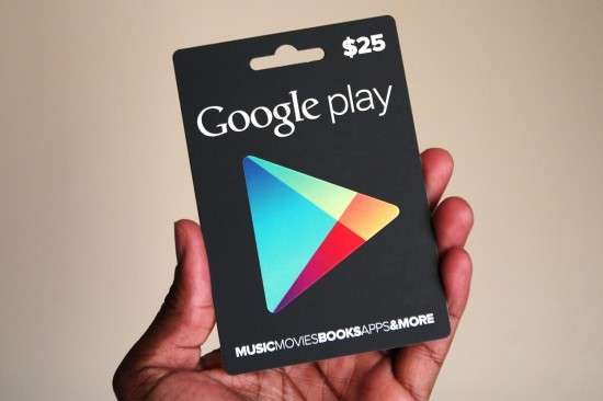 Gift Cards для Android Market