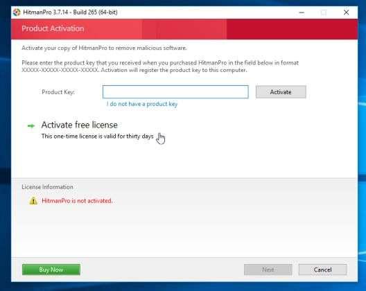 HitmanPro remove malware