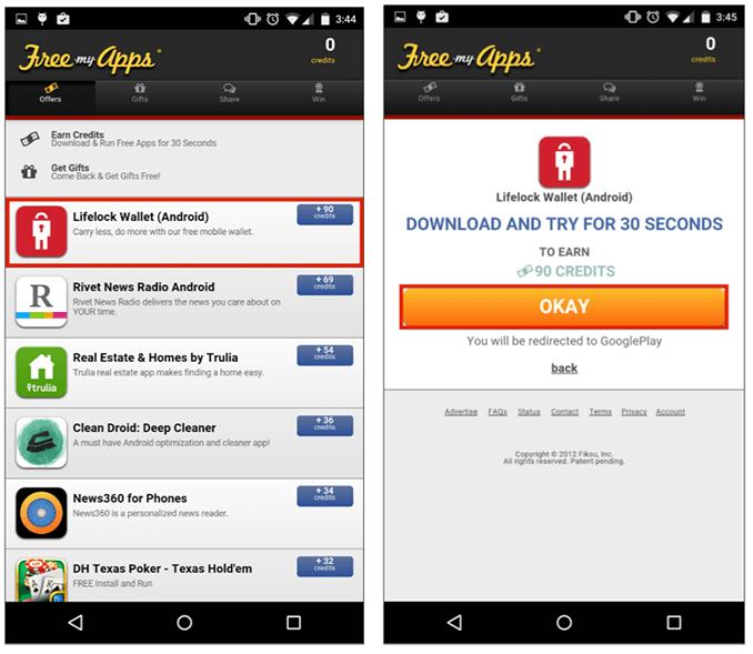 Скачать бесплатные приложения в FreeMyApps на Android