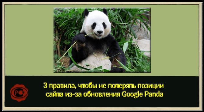 Обновление алгоритма Google Panda