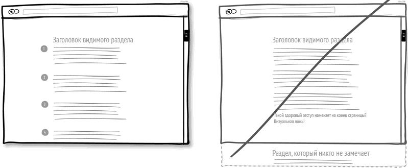 Предлагайте последовательность вместо страниц с двойным дном