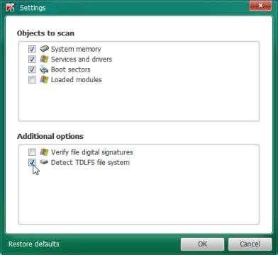 Detect TDLFS file system